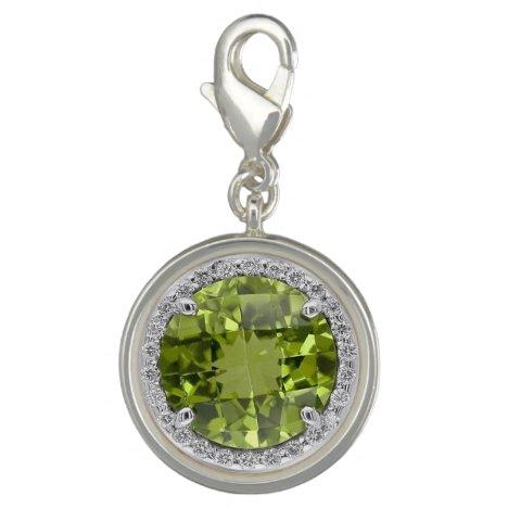 Citrine and Diamonds Charm