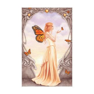 Citrine Birthstone Fairy Premium Wrapped Canvas Canvas Print