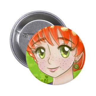 Citrine Circle Button