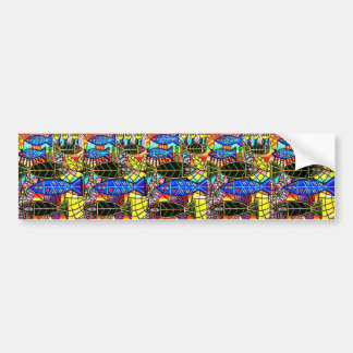 Citrine Coral Fish Bumper Sticker