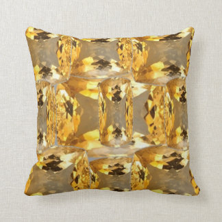 Citrine Gems Patterned Pillow by Sharles