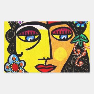 Citrine Sugar Skull Woman Sticker