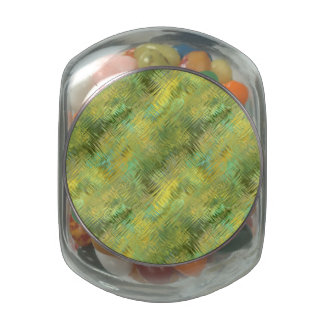 Citrine Yellow Glassy Texture Jelly Belly Candy Jars