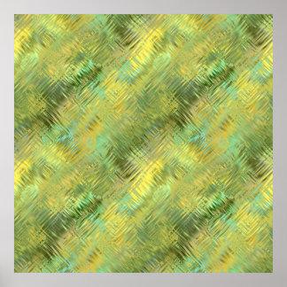 Citrine Yellow Glassy Texture Print