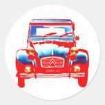 Citroen 2CV 2 Classic Round Sticker