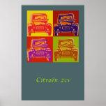 Citroen 2CV large poster
