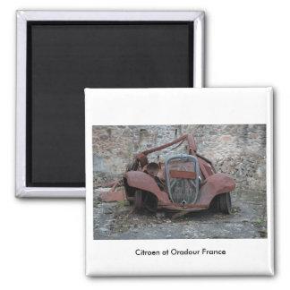 Citroen at Oradour France Magnet