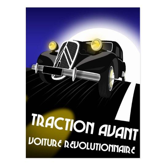 Citroen Traction Avant Postcard