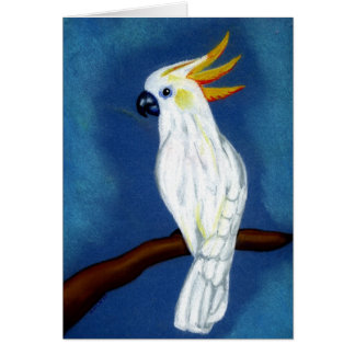 Citron Crested Cockatoo Blank Greeting Card