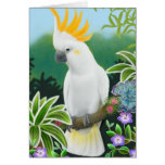 Citron Crested Cockatoo Greeting Card