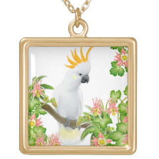 Citron Crested Cockatoo Necklace