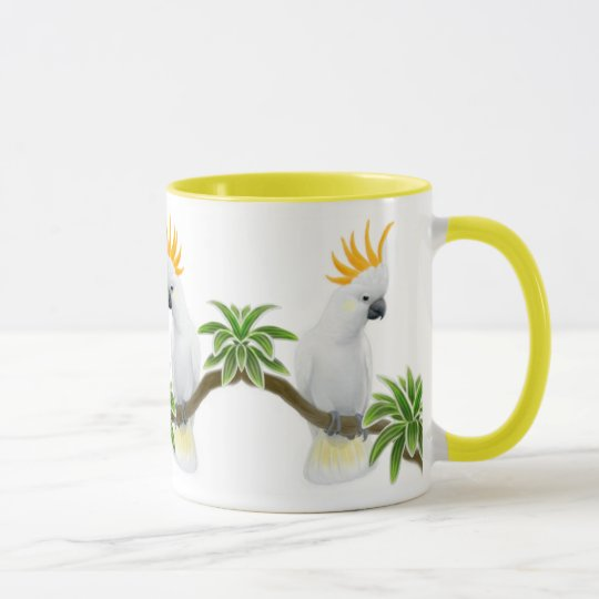 Citron Crested Cockatoo Ringer Mug