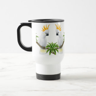 Citron Crested Cockatoo Travel Mug