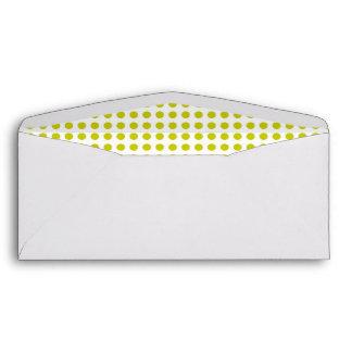 Citron Dot Lined Business Envelope
