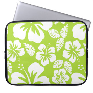 Citron Green Tropical Hibiscus Laptop Sleeve