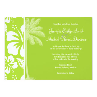 Citron Green Tropical Hibiscus; Summer Palm Announcement