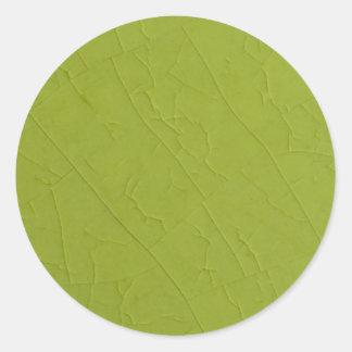 Citron stone cracks classic round sticker