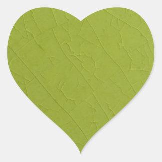 Citron stone cracks heart sticker