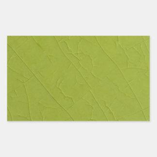 Citron stone cracks rectangular sticker