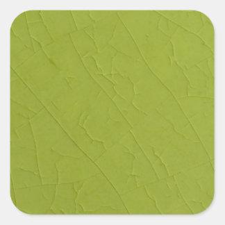 Citron stone cracks square sticker