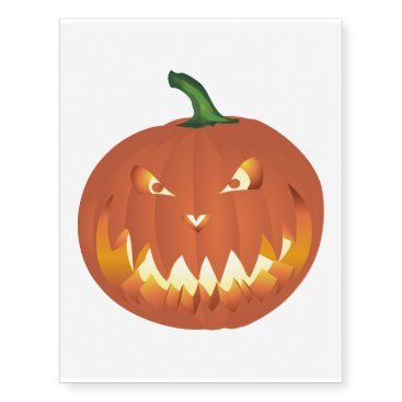 Citrouille pour Halloween ... Temporary Tattoos
