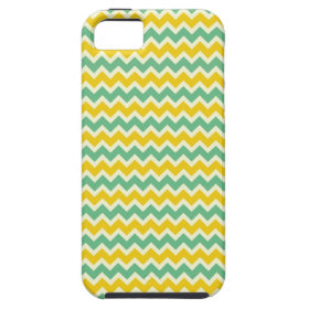 Citrus and Lime Chevron Yellow Green Zigzags iPhone 5 Case