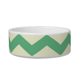 Citrus and Lime Chevron Zigzags Yellow Green Bowl