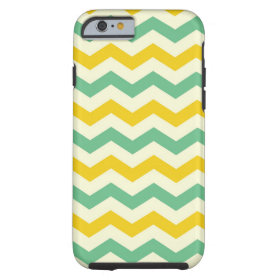 Citrus and Lime Chevron Zigzags Yellow Green Tough iPhone 6 Case