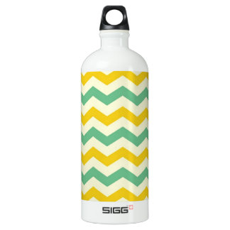 Citrus and Lime Chevron Zigzags Yellow Green SIGG Traveler 1.0L Water Bottle
