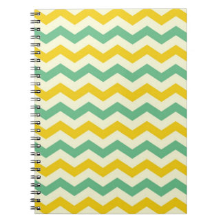 Citrus and Lime Chevron Zigzags Yellow Green Spiral Notebook