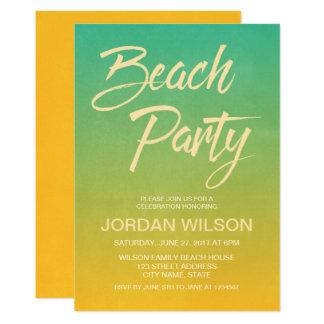 Citrus Birthday Anniversary Beach Party Invitation