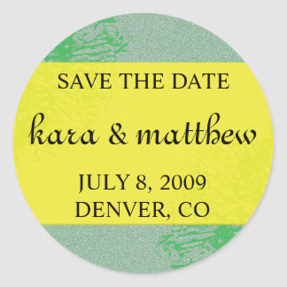 Citrus Blossom Save the Date Round Stickers