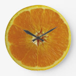 Citrus Chronometer: a daily reminder to eat fruit Large Clock