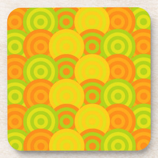 Citrus Circle Pattern Coasters