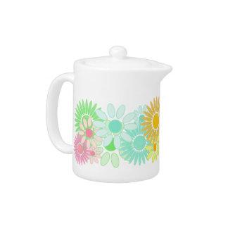 Citrus Crazy Daisy Floral Garden Daisies Teapot
