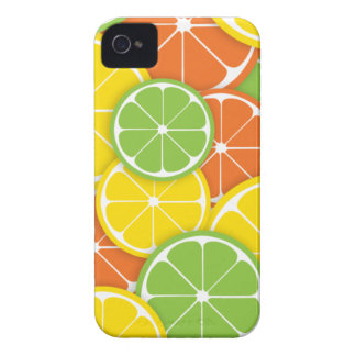 Citrus crush juicy round lemon lime orange slices iPhone 4 Case-Mate cases