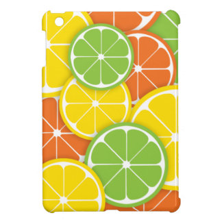 Citrus crush juicy round lemon lime orange slices cover for the iPad mini
