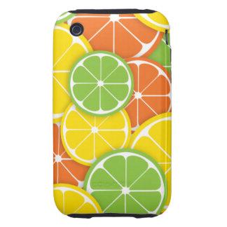 Citrus crush juicy round lemon lime orange slices tough iPhone 3 case
