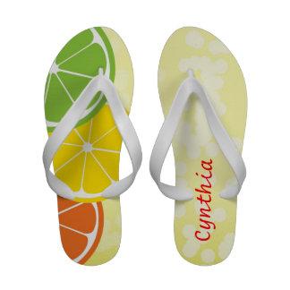 Citrus crush summer bubble personalize fun sandals