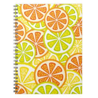 citrus design spiral note books
