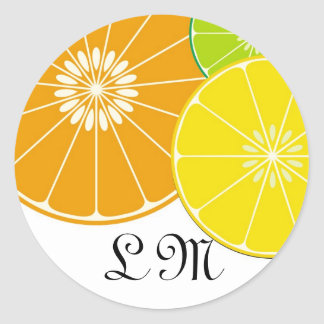 Citrus Double Monogram Seal - Customized