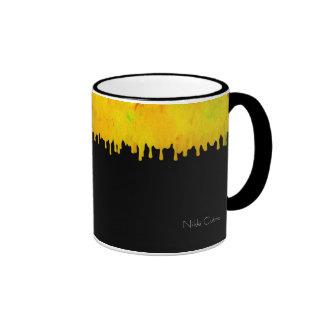 Citrus Drip Black Mug