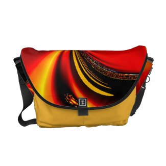Citrus Flavor Orange Fractal Messenger Bag