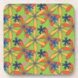 Citrus floral coasters
