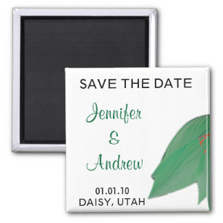 Citrus Flower Save the Date Magnet