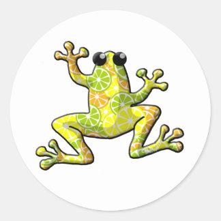Citrus Frog Classic Round Sticker