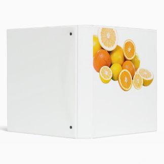 citrus fruit 3 ring binder