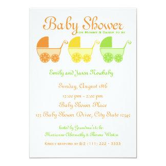 Citrus Fruit Baby Shower Cards