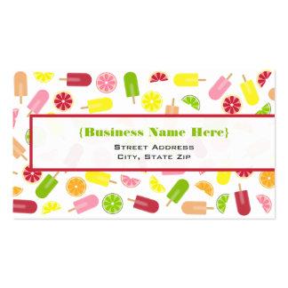 Citrus Fruit Ice Pops Business Card