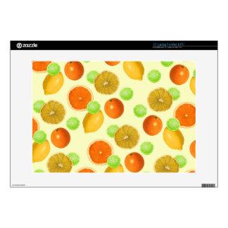 """Citrus Fruit Pop 15"""" Laptop Skins"""